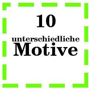 Zusatzoption Buttons 10 Unterschiedliche Motive / Namen