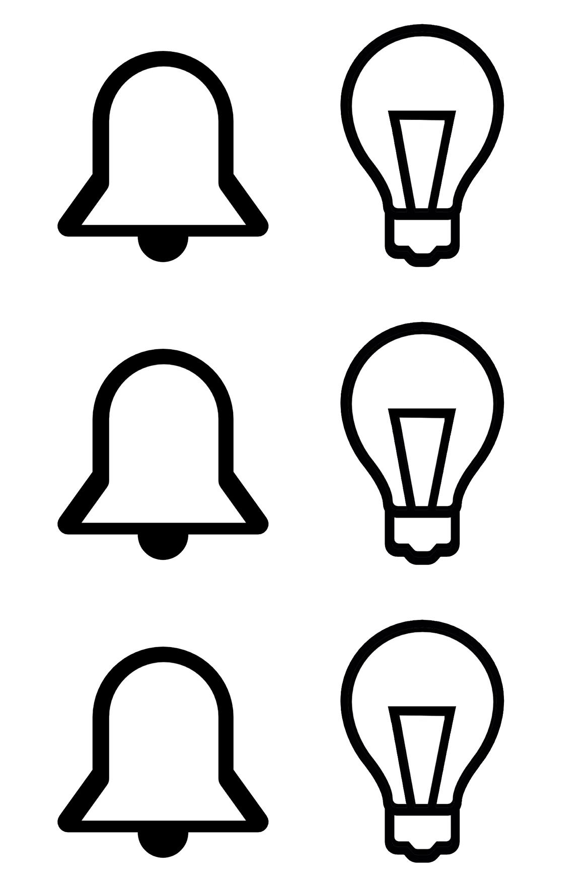 Licht Klingel Schalter Symbol