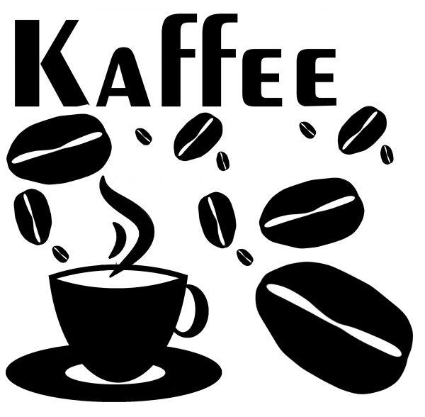 Kaffee Aufkleber-Set
