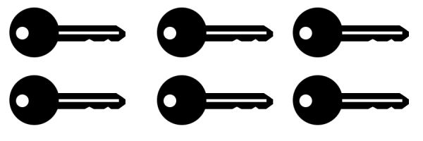 Türöffner Schalter Symbol 6 Stk