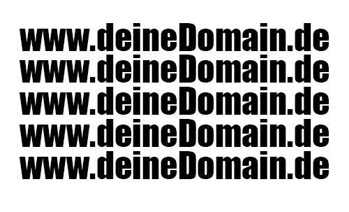 "5 x Aufkleber ""www.deineDomain.de"" Wunschdomain freistehend 20 cm"