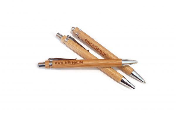 Bambuskugelschreiber inkl. Lasergravur