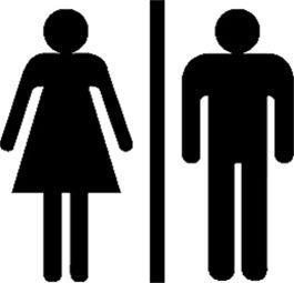 WC Symbole 15 cm